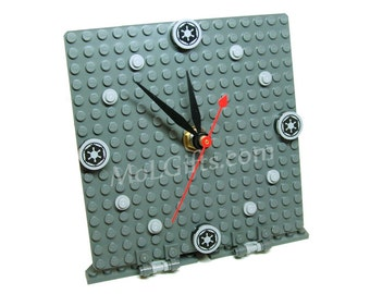 Star Wars Clock, Imperial Model made from Star Wars LEGO® Pieces, Star Wars Imperial Clock