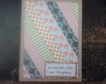 Handmade Greeting Card-Poem Card-Quilt Card