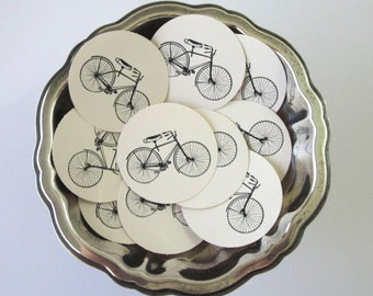 Bicycle Tags Round Gift Tags Set of 10