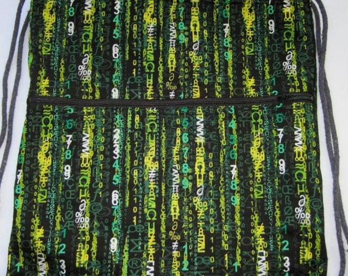 Computer Matrix Green Circuit Board Backpack/tote last one