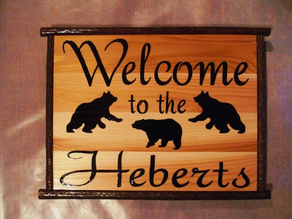 Items similar to Home Decor Personalized Custom Wood Sign