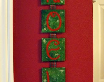 Noel - Hand Painted Hanging Christmas Ornament
