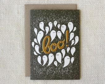 SALE - Halloween Card - Boo