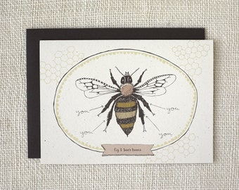 Anniversary Card, Love Card, Friendship Card - Bee's Knees