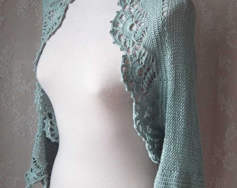 ICE, Knit & crochet shrug pattern pdf