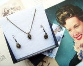 Scottish Pinecone Necklace and Earring Gift Set
