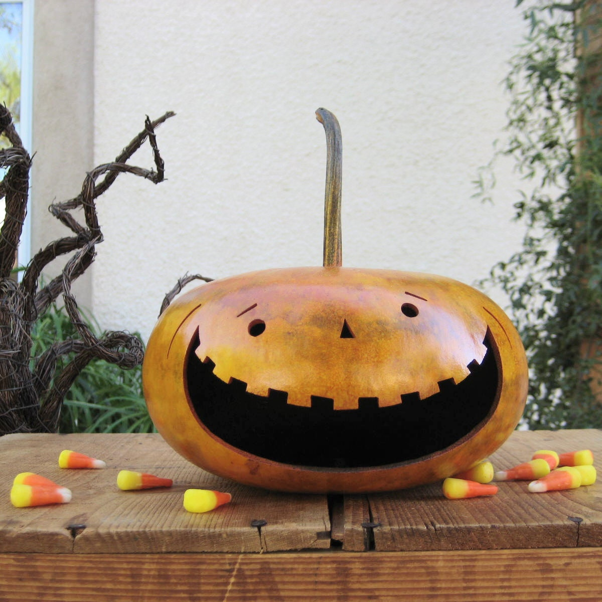 Natural Halloween Decorations: Halloween Gourd Jack O Lantern Natural Fall By Pinchmeboutique