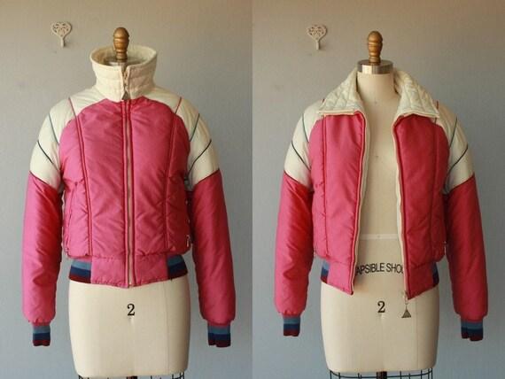 vintage ski jacket / 1970s ski coat / 70s ski jacket / puffy coat - size small