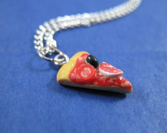 Miniature Food Jewelry Pizza Necklace