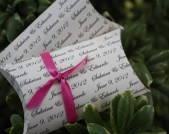 24 Personalized Wedding Pillow Boxes