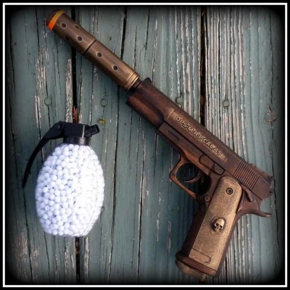 Steampunk cyber shot gun Star Wars Victorian sci-fi pirate BB Airsoft  Spring Gun---ZOMBIE killer