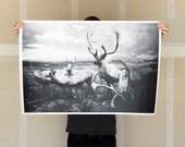 Deer Herd - 24x36 Plotter Poster