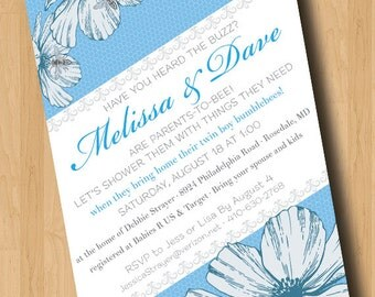 What's the Buzz - Baby Shower Invitation - Digital Design Only