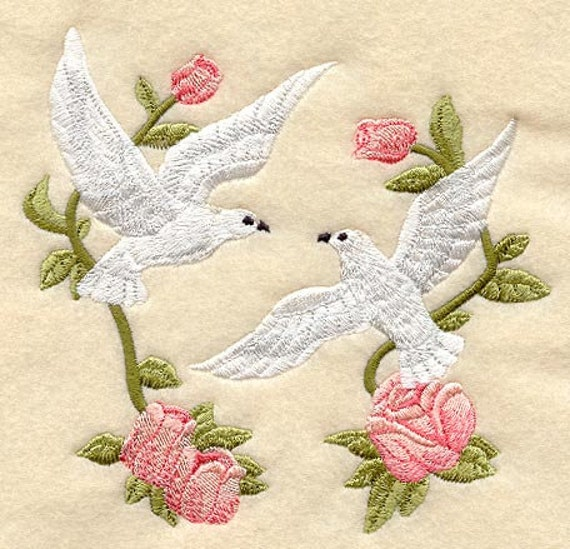 Love Doves Machine Embroidery Quilt Blocks Azeb