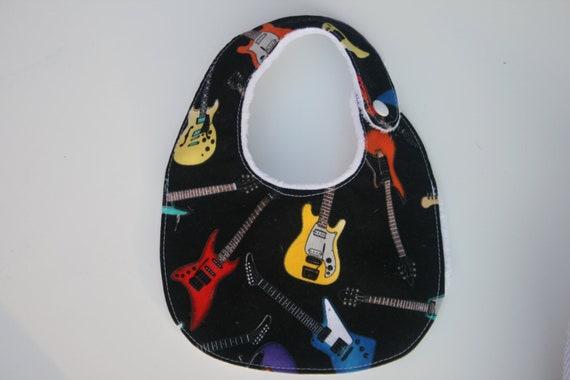 Guitar bib, Reversible bib ON SALE ready to ship