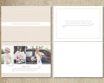 Wedding Photographer Thank You Card Templates for Photoshop - INSTANT DOWNLOAD - m0026