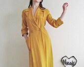 1940 rich marigold dressing gown . saffron ombre dress .medium .sale