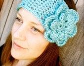 Wide Boho Headband with Flower - INSTANT DOWNLOAD - Crochet Pattern PDF