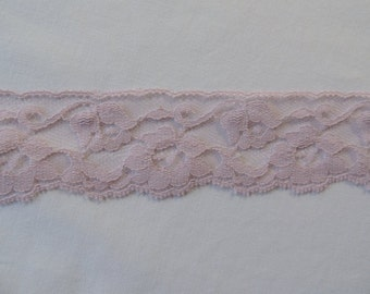 3 Yards Rose E Dee Nylon Flat Lace in Lilac Color