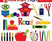 Buy 2, Get 1 FREE - Back To School Clipart - Digital Back To School Clipart - Instant Download