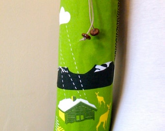 Yoga mat bag Green deet with cabin yoga tote bag yoga mat carrier.