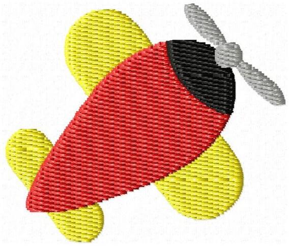 Airplane Machine Embroidery Design Mini