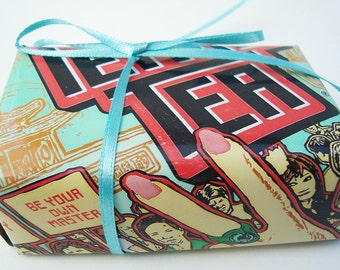 LARGE Peace Tea Can Gift Box Recycled Eco Friendly Repurposed Recycled