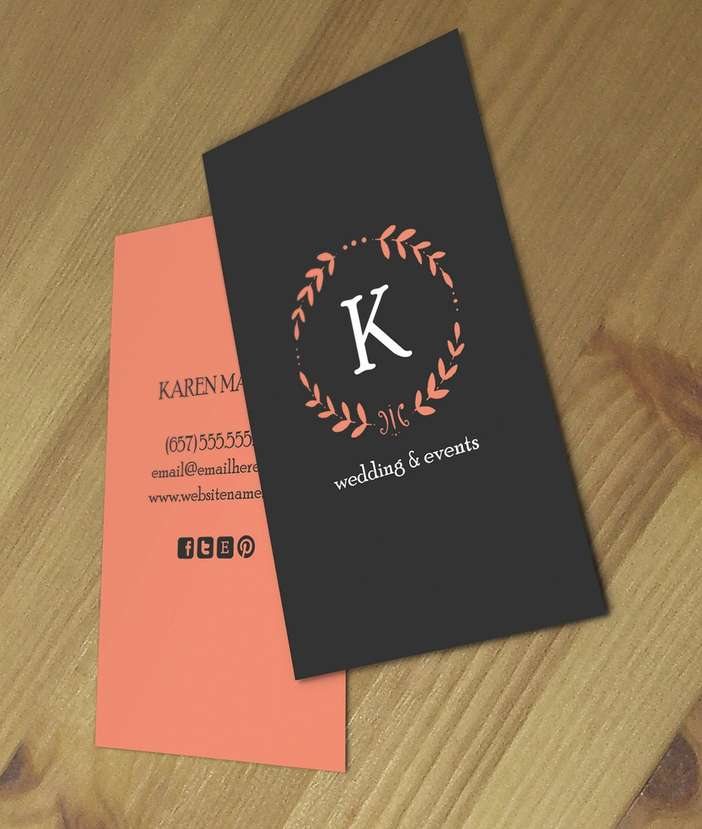 Karen double sided business card