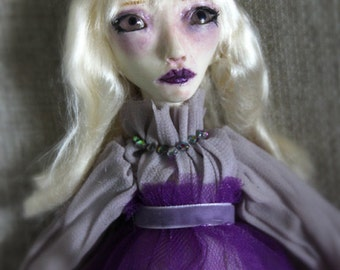 SALE Ghost Art Doll Isabella White Gothic One of a kind