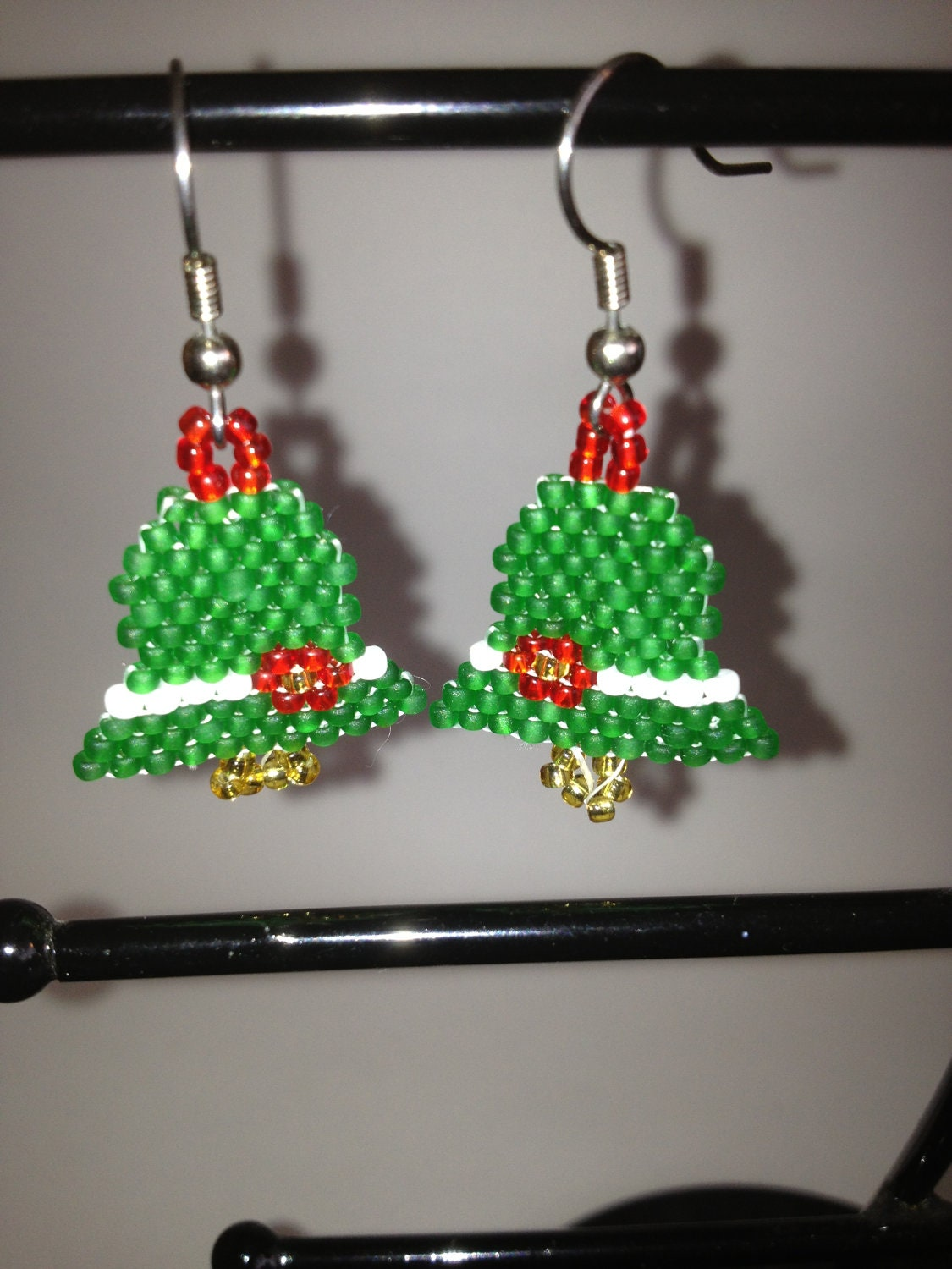 Beaded christmas bells by jolly on etsy