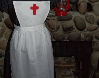 Clara Barton Historical Theme Colonial Costume Civil War Pinner Apron Only