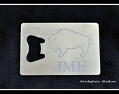 Etched Stainless Steel Credit Card Bottle Opener by Jackglass on Etsy