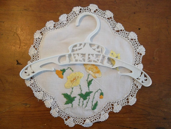Plastic Clothes Hanger with Merry go round motif --  1960s --