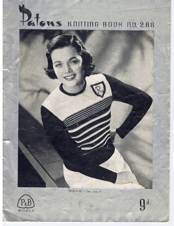 Women's Knitting Patterns - 7 Vintage Patterns - Patons No. 288