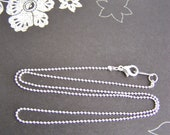 Sparkly and Petite - 17 Inch Silver 18 Karat White Gold Plated Chain - perfect alone or add a pendant - weddings - bridesmaids - everyday