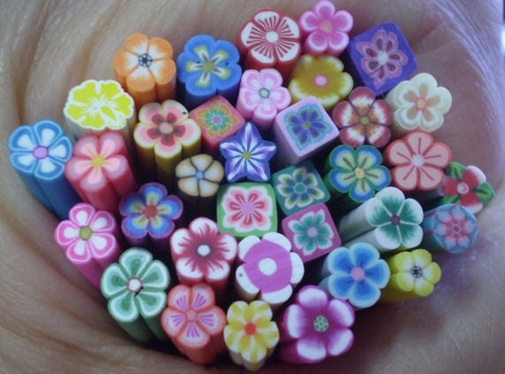 A BUNCH Of FLOWERS - 35 Polymer Clay Cane