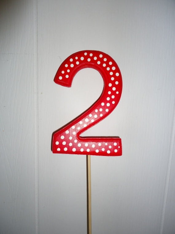 Birthday Numbers Cake Toppers