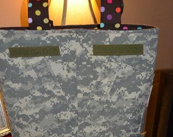 OOAK Sew Chic Army ACU Hero With Me Tote/Diaper Bag