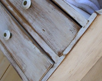 Wood Furniture Storage - Shelf - Shabby - Cottage Chic Decor - Bathroom - Kitchen - Bookshelving