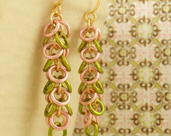 SALE Shaggy Earring Kit or Ready Made - Easy and Fun for Beginners - Peridot Rose or YOU Pick