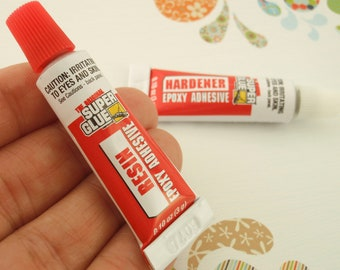 The Original Super Glue - 2 Part EPOXY Adhesive  -  TWO 0.10 ounce Tubes -  Resin and Hardener