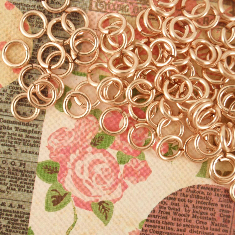 50 16 gauge Handmade Rose Gold Colored Jump Rings You Pick