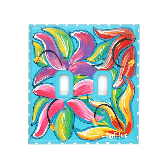 HAWAIIAN THEME Aloha Light Dual Switch Plate Cover