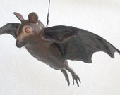 Flying Bat made of paper mache