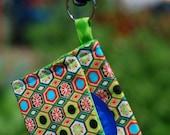Condom Cozy - Multicolor Geometric Keychain Pouch