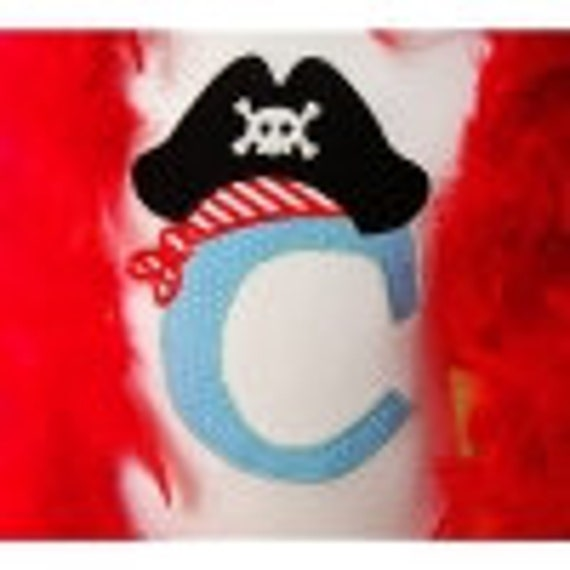 Pirate Initial Birthday Shirt and Matching Hat Custom Listing for Jennifer Bradley