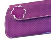 Clutch (Bridesmaids Clutch) - Purple Dots