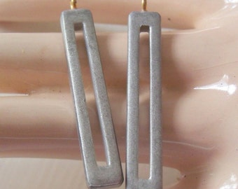 Vintage Silver Art Deco Dangles - Lot Of 2