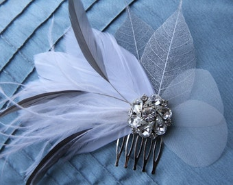 Silver Springs-Grey and Silver Bridal Comb