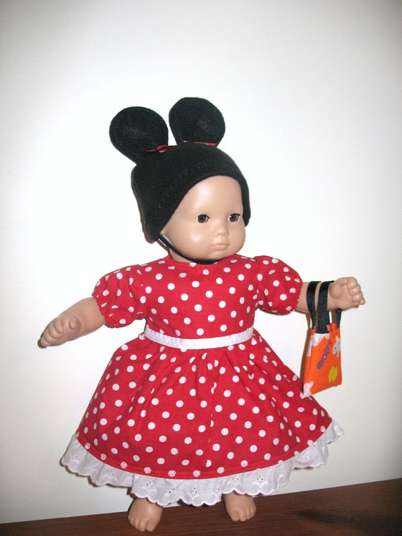 Reserved Listing for Kristina Novak, Bitty Baby or Bitty Twin  Classic Red Minnie Mouse Inspired Costume for Halloween,